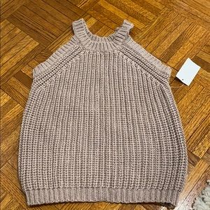 Taupe sweater vest never worn with tags